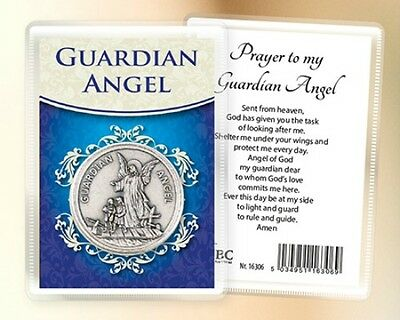 Guardian Angel Pocket Token & Card - Religious Statues Candles Pictures Listed