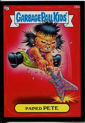 Garbage Pails Kids 2014 Series 1 Black Parallel Base Card 28a PAINED PETE