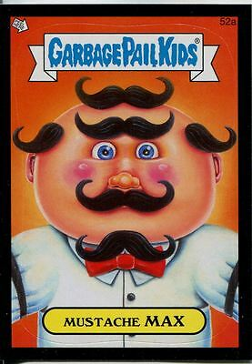 Garbage Pails Kids 2014 Series 1 Black Parallel Base Card 52a MUSTACHE MAX