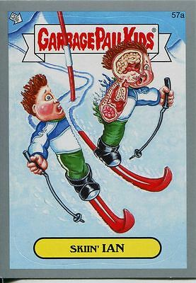 Garbage Pails Kids 2014 Series 1 Silver Parallel Base Card 57a SKIIN' IAN