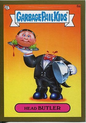 Garbage Pails Kids 2014 Series 1 Gold Parallel Base Card 8a HEAD BUTLER