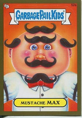 Garbage Pails Kids 2014 Series 1 Gold Parallel Base Card 52a MUSTACHE MAX
