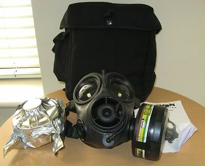 Ex Police Avon UKSF FM12 CT10 Gas Mask Respirators And Bag British Military Army