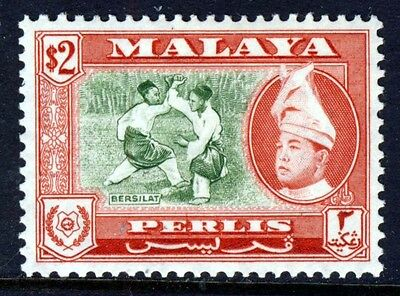 PERLIS MALAYA 1957 Raja Syed Putra $2 High Value SG 39 MINT