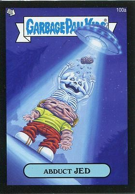 Garbage Pail Kids Mini Cards 2013 Black Parallel Base Card 100a Abduct JED