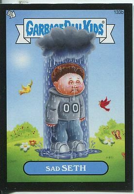 Garbage Pail Kids Mini Cards 2013 Black Parallel Base Card 133b Sad SETH