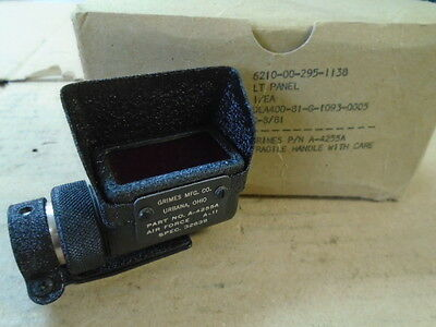 1 Ea Nos Grimes Panel Light Indicator Used On Various Aircraft  P/n: A-4255A