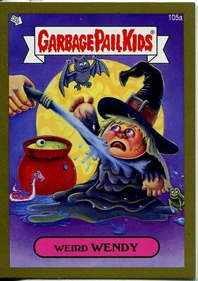 Garbage Pail Kids Mini Cards 2013 Gold Parallel Base Card 105a Weird WENDY