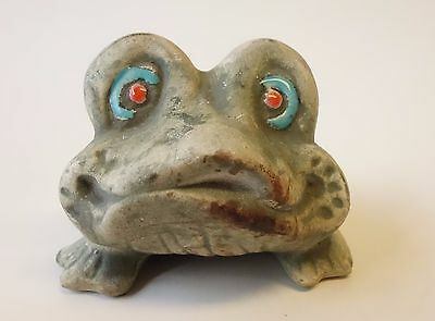VINTAGE CERAMIC POTTERY FROG TOAD FIGURINE Enesco Japan E-9185  ** UNIQUE **