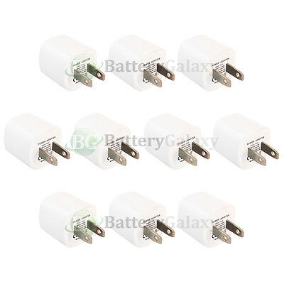 10 USB Travel Battery Wall Charger Mini for Apple iPhone / Android Cell Phone