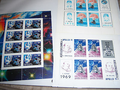 Lot D, Vintage USSR, Africa, China, Middle East, Space Stamps, Mini Sheets