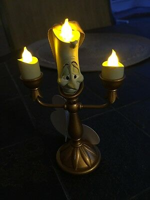 New Disney Parks Beauty And The Beast Lumiere Candle Light Up Tree Ornament
