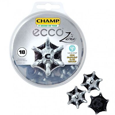 Ecco Champ Tour Zarma Slim-Lok Golf Spitzen-Pack 18 Spikes Fast Twist Tri-Lok