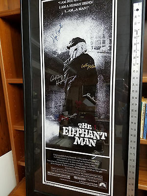 1980 Signed Movie Poster The Elephant Man: Lynch, Hopkins, Hurt, More!