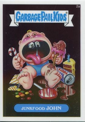 Garbage Pail Kids Chrome Series 1 Base Card 2a JUNKFOOD JOHN