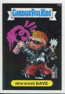 Garbage Pail Kids Chrome Series 1 Base Card 30a NEW WAVE DAVE