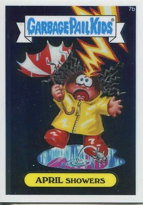 Garbage Pail Kids Chrome Series 1 Base Card 7b APRIL SHOWERS