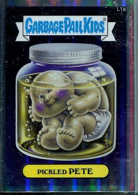 Garbage Pail Kids Chrome Series 1 Complete 28 Card Lost GPK's Refractor Set