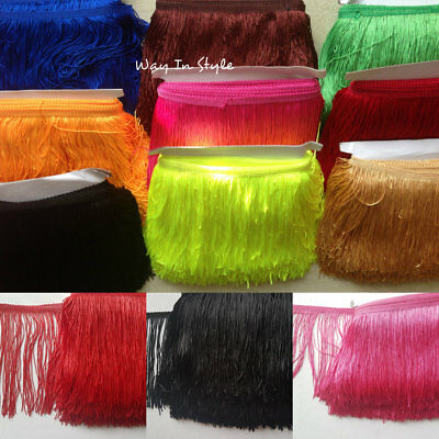 "Tassel Fringe Trim 15 cm 6"" Drop costume furniture Assorted Colours 1 yard"