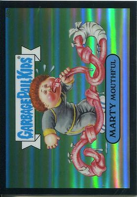 Garbage Pail Kids Chrome Series 2 Black Refractor Parallel 48b MARTY MOUTHFUL