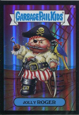 Garbage Pail Kids Chrome Series 2 Black Refractor Parallel 61a JOLLY ROGER