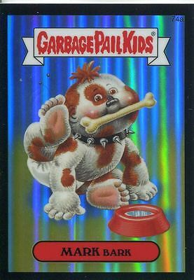 Garbage Pail Kids Chrome Series 2 Black Refractor Parallel 74a MARK BARK