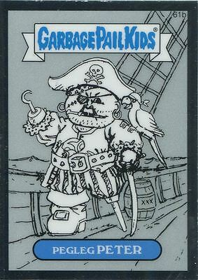 Garbage Pail Kids Chrome Series 2 Pencil Art Concept 61b PEGLEG PETER