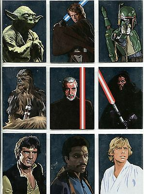 Star Wars Galaxy 5 Complete Silver Foil Chase Card Set 1-15