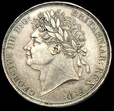 KING GEORGE  IIII 1821 Secundo Crown Superb condition About UNC