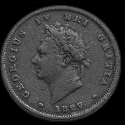 KING GEORGE THE IV 1827 PENNY. Very Rare Penny.