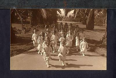 1915 Point Loma CHILDREN AT LOMALAND Real Photo RPPC INTERNATIONAL THEOSOPHICAL