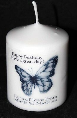 Handmade Personalised Candle Gift Special Anniversary Present Couple Keepsake #2