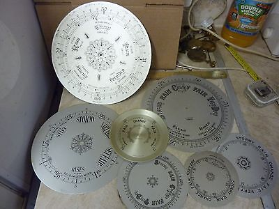 7 Old - Used Barometer  Dials