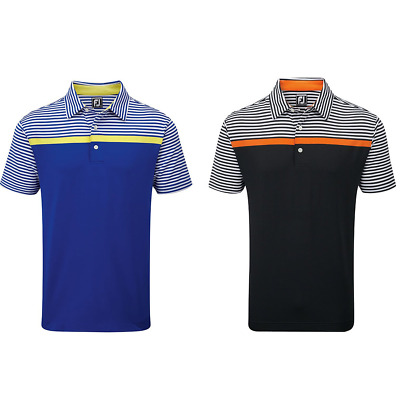 **SALE** 40% Off Footjoy Engineered Stripe Mens Golf Polo Shirts