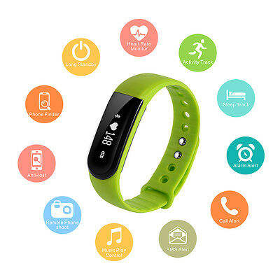 Smart Band Heart Rate Monitor Bracelet Watch Bluetooth SMS Fitness Tracker AC663