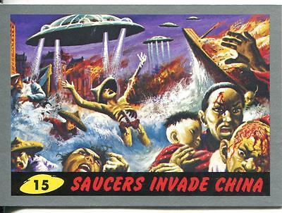 Mars Attacks Heritage Silver Parallel Base Card #15    Saucers Invade China