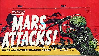 Mars Attacks Heritage Factory Sealed Hobby Box 24 Packs