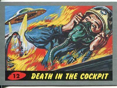Mars Attacks Heritage Silver Parallel Base Card #12    Death in the Cockpit