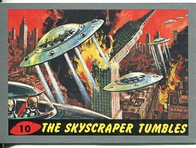 Mars Attacks Heritage Silver Parallel Base Card #10    The Skyscraper Tumbles