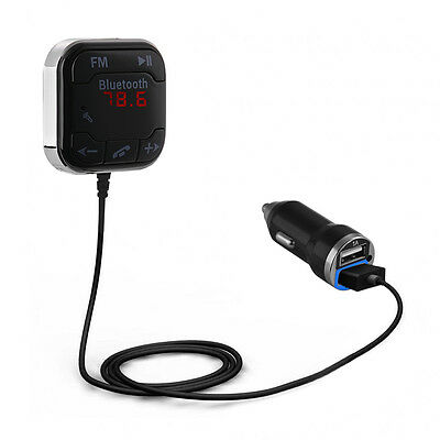 Bluetooth 4.0 Wireless Music Receiver Handsfree Car Speaker + USB Charger MA983