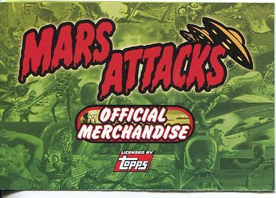 Mars Attacks Heritage Offical Merchandising Leaflet