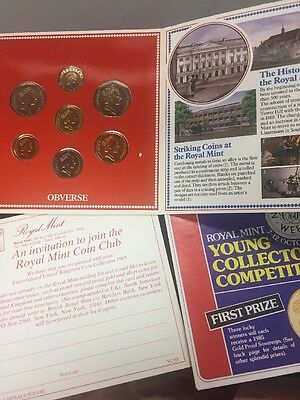 1985 United Kingdom Brilliant Uncirculated Coin Collection Set