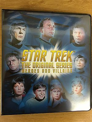 Star Trek TOS Heroes And Villains Official Rittenhouse Binder