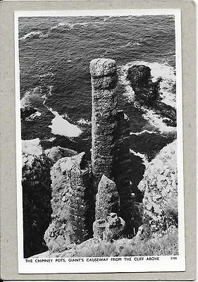 GIANT'S CAUSEWAY, The Chimney Pots from Cliff above, Antrim old postcard