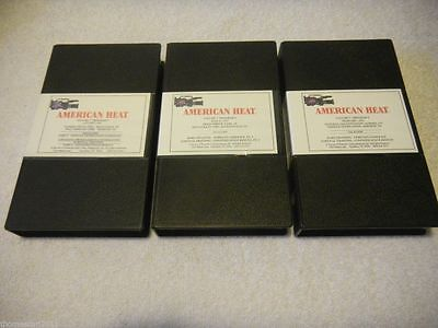 1993 AMERICAN HEAT Fireman TRAINING VHS Tape Lot x3 Survival Training/Under Ice+