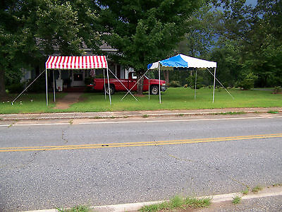 Commercial/festival Tents-10X10-1 Blue & White And 2 Red & White-Excellent Cond
