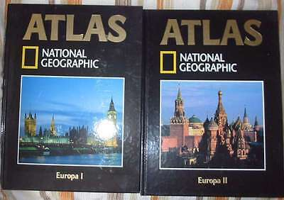 EUROPA I y II - 2 ATLAS NATIONAL GEOGRAPHIC SOCIETY - ED. RBA 2004 - VER INDICES