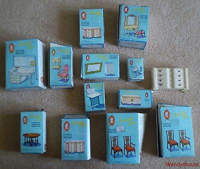 Job Lot Vintage Amanda Ann Dolls House Furniture By Combex - Free  Uk P&p