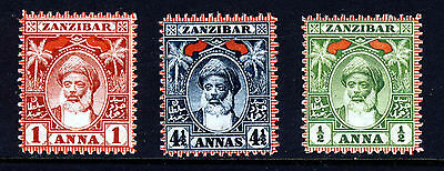 ZANZIBAR 1899-1901 Sultan Bin Said Red Flags Issue SG 188 to SG 196 MINT