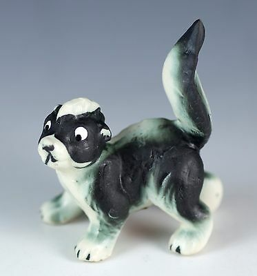 Vintage Miniature Bone China Skunk Figurine Matte Finish Made In Japan